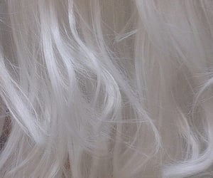 aesthetic, white hair, and hair image