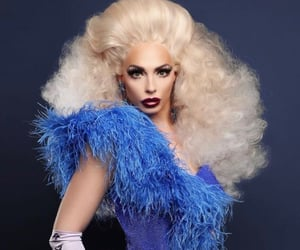 blue, drag queen, and pageant queen image