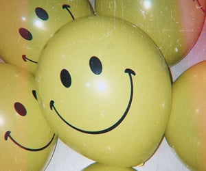 aesthetic, balloons, and smile image
