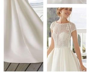 blanco, girl, and vestido image