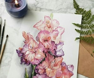 art, flowers, and aesthetic image