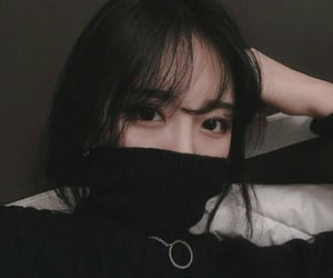 korean, ulzzang, and dark aesthetic image