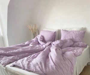 aesthetic, bed, and purple image