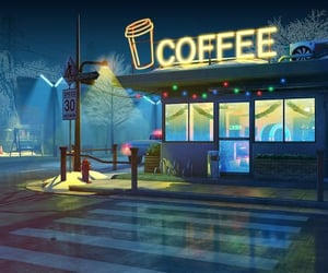 coffee, illustration, and places image