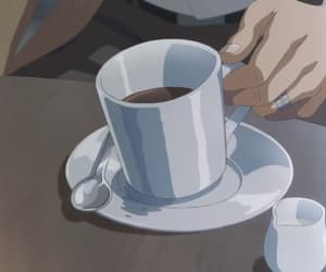 anime, anime girl, and coffee image