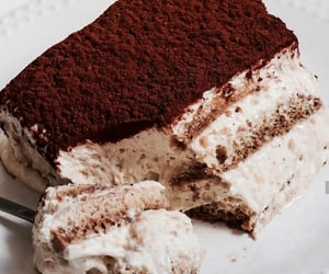 food, sweet, and tiramisu image