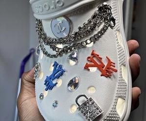 crocs, Louis Vuitton, and shoes image