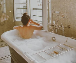 bubbles, photography, and bath tube image