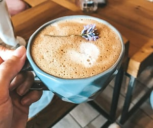 blue, coffe, and drink image