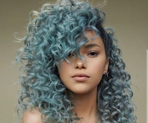 beauty and blue hair image