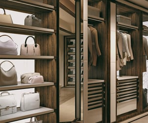 bags, clothes, and dressing room image