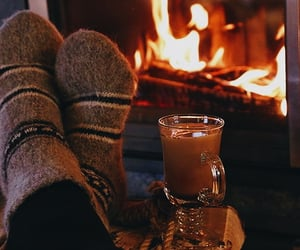 cozy, hot chocolate, and afternoon image