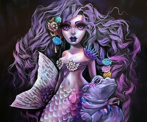 art, mermaid, and siren image