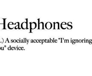 headphones, ignore, and music image