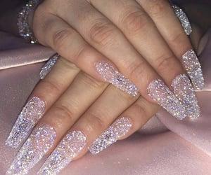 fake nails, acrylic nails, and make-up image