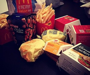 food, Chicken, and mc donalds image