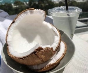 coconut, theme, and aesthetic image