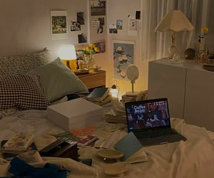 bed, college, and comfy image