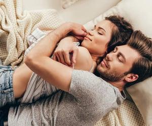 beautiful, bed, and sleep image