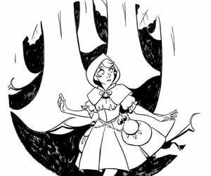 black and white, lineart, and flowers image