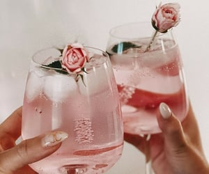 drinks and rose gold image