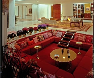 70s, home, and conversation pit image