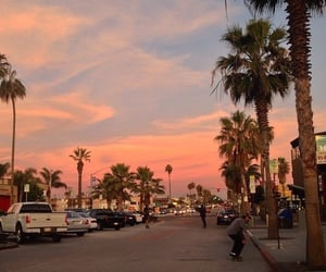 sky, sunset, and street image