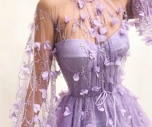 dress, purple, and beautiful image