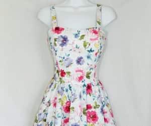 alternative, floral, and flower dress image