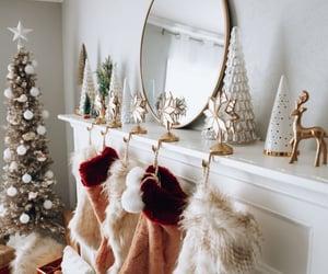 brown, christmas, and decor image