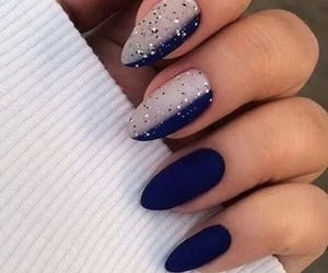 blue nails, nails, and nail art ideas image