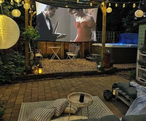 backyard, home theater, and inspiration image
