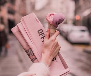 aesthetic, hand, and icecream image