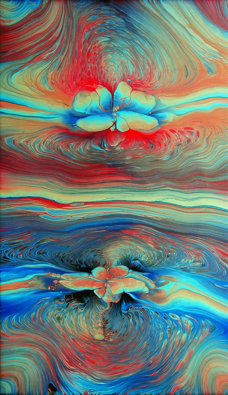 abstract, lotus, and paintings image