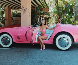 Beverly Hills, pink, and vintage image