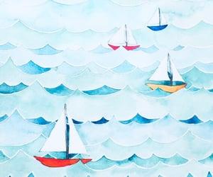 art, boats, and drawing image
