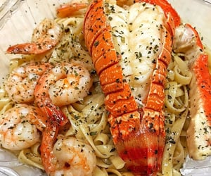 food, lobster, and pasta image
