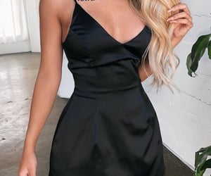 black dress, clubwear, and dress image