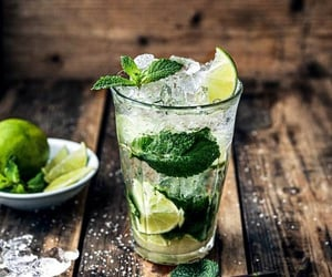 cocktail, mojito, and lime image