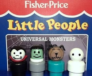 universal monsters, fisher price, and Halloween image
