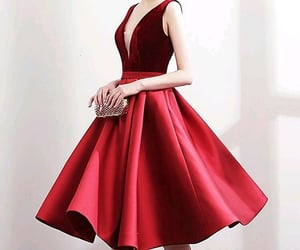 clothing, red dress, and red dresses image