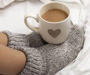 coffee, socks, and heart image