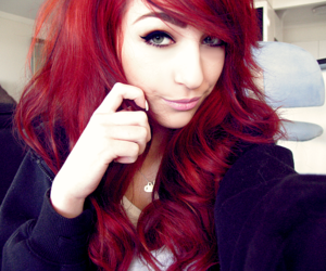 hair, red hair, and eyes image