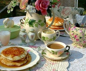 breakfast, coffee, and pancakes image