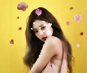 blink, jennie, and yellow image