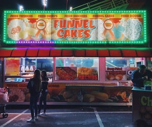 amusement park, california, and lights image