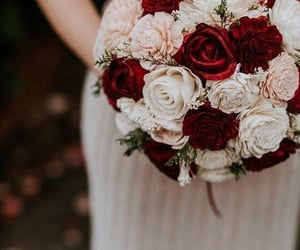 blush, bouquet, and burgundy image