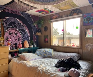 bedroom, crystals, and decor image