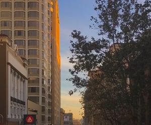 buildings, sunrise, and cali image