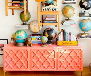 cabinet, coral, and decor image